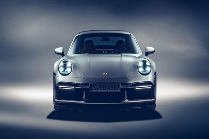 911 turbo s record 2 front view