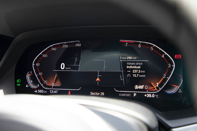 BMW X6 xDrive40i Digital Meter