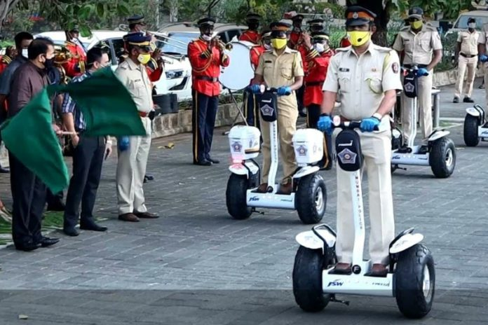 Mumbai Police acquires new wheels, will be patrolling on the Freego segway!