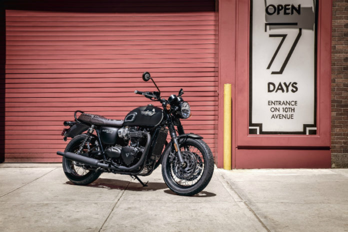 Triumph launches Black editions of the Bonneville T100 and T120