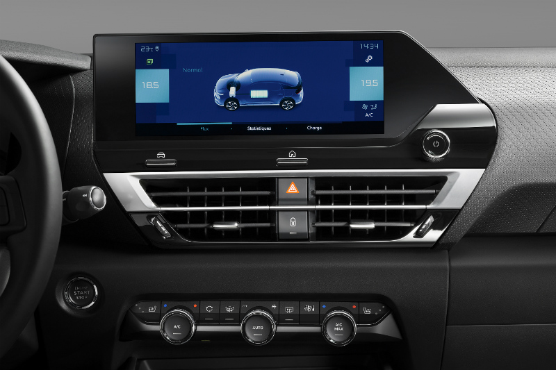 Citroen C4 Electric Car Dashboard- Topgear Magazine