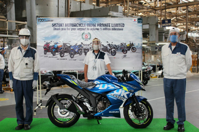 Suzuki Motorcycle rolls out five millionth unit from Gurugram plant