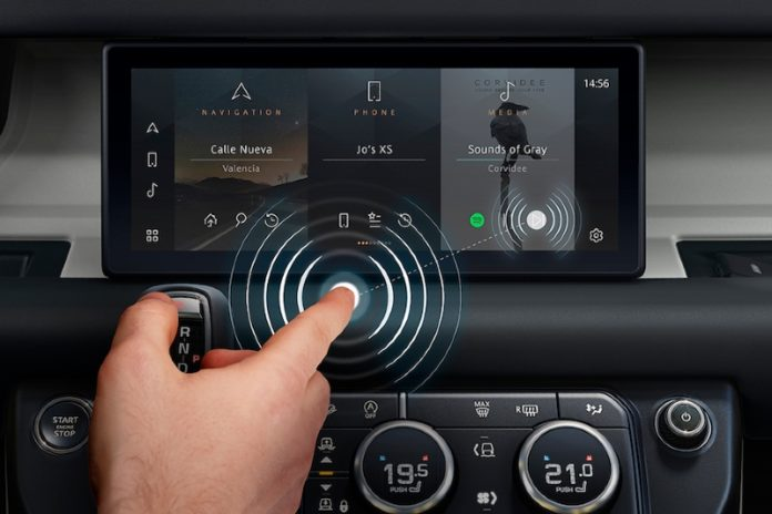 Jaguar Land Rover develops contactless touchscreen to fight bacteria and viruses