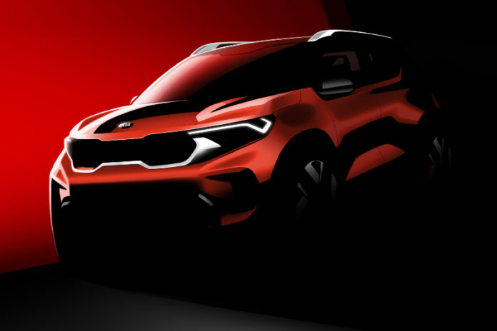 Official rendering of the Kia Sonet - Topgear Magazine India