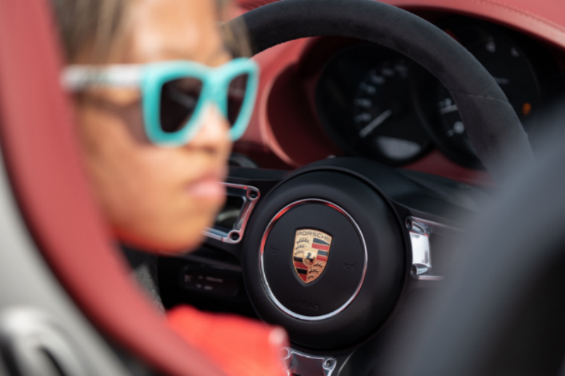 Chloe Chambers with 718 Spyder - Topgear Magazine India