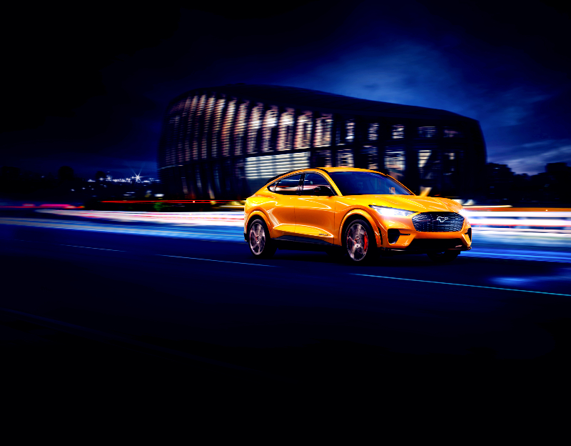 Cyber Orange Ford Mustang Mach-E GT - Topgear Magazine India