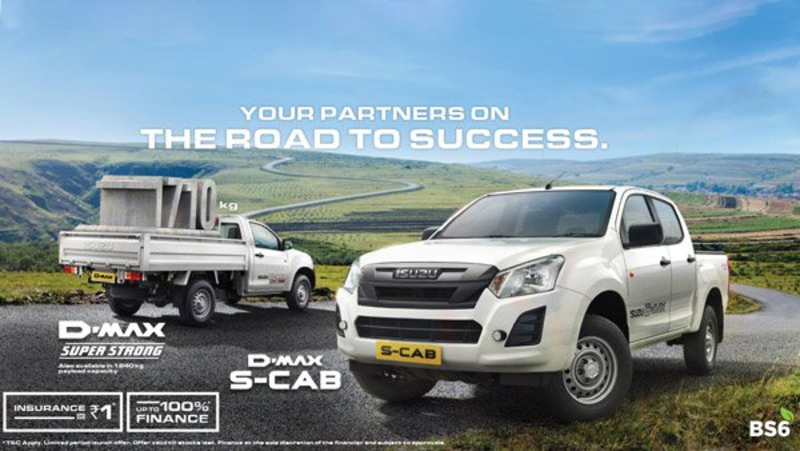 Isuzu D-Max & S-Cab BS6 Commercial Models Launched In India: Prices Start At Rs 7.84 Lakh